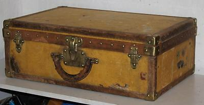 Antique LOUIS VUITTON Trunk Suitcase,Brass locks 19th century