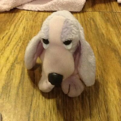 "6"" Hush Puppies Applause Bassett Hound Plush Beanie Lavender & Pink"