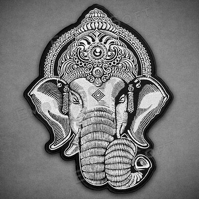 Large Patch Head of Ganesha IRON ON 8.5 x 11.5 inches | 21.6 cm x 29.1 cm
