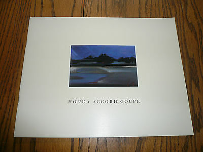 1990 Honda Accord Coupe Sales Brochure