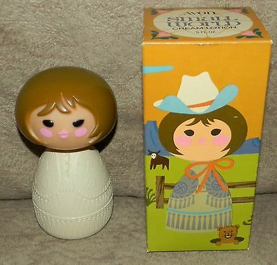 VINTAGE AVON SMALL WORLD COW GIRL CREAM LOTION with original lotion