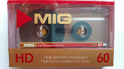 CASSETTE TAPE BLANK SEALED - 1x (one) ] MIG HD CHROME 60 (type II)  RARE