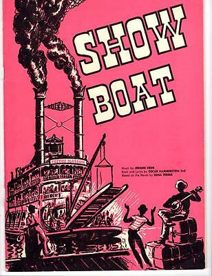 """Vintage 1954 Musical """"Show Boat"""" Playbill - Winnepeg Canada"""
