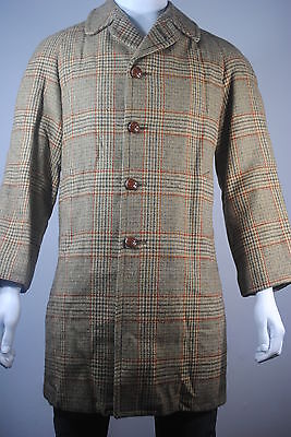 Vintage Mint Mens Thick Tweed Wool Insulated Winter Coat Jacket 38