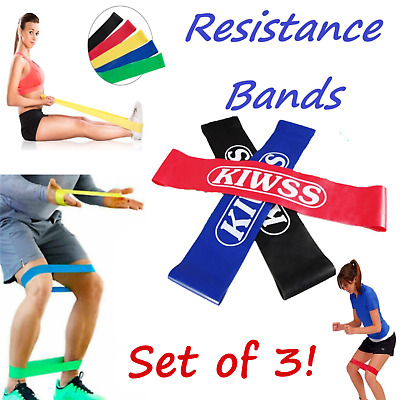 Set Of 4 (5) Heavy Duty Resistance Band Loop Power GYM Fitness Exercise Pilates