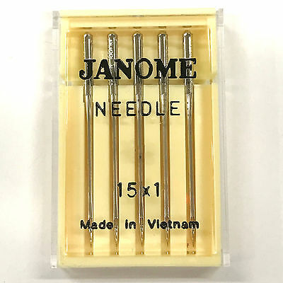 Janome 15X1 HAX1 Universal Household Sewing Machine Needles - 5 Count