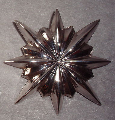 1991 KIRK STIEFF Williamsburg Silver Christmas Tree Star Top Topper Ornament