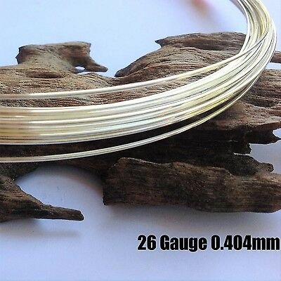 1 metre 26ga (0.4mm) Sterling Silver 925 Round Beading Wire Soft