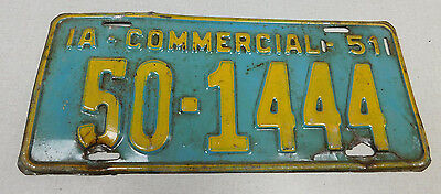 1951 Iowa commercial vehicle license plate