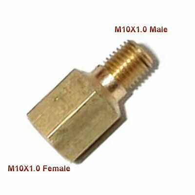 Metric Fitting M10 M10X1 M10X1.0 Female to Male Adapter Gauge Oil Fuel L-AO