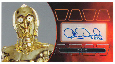 Star Wars Revenge of the Sith 3D Widevision Anthony Daniels Autograph Card 03/15