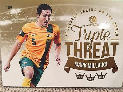 2013-14 A League Soccer Trading Cards Triple Threat Subset TT6 Mark Milligan