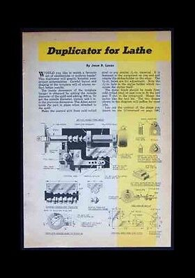 Metal Lathe DUPLICATOR HowTo Build PLANS Universal fit