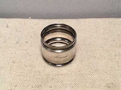 Antique Aesthetic Design Sterling Silver Napkin Ring