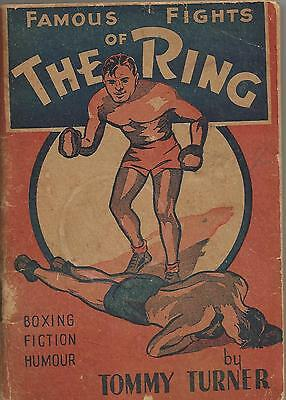 famous fights of the prize ring rare Australian Boxing book