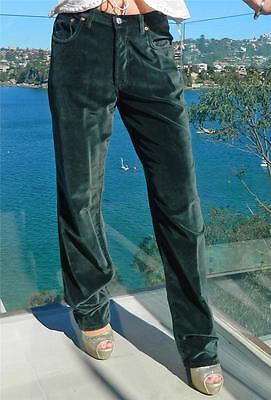 VINTAGE  FIOUCCI  1980s Original Made in Italy Rock Chic Retro Velvet Pants