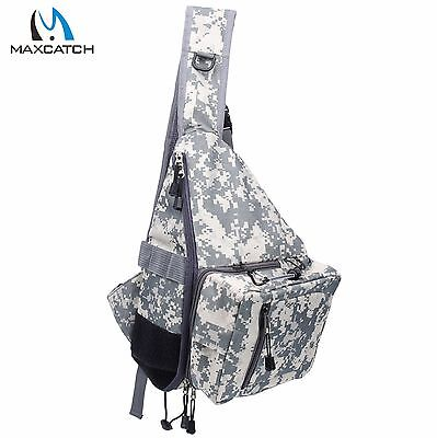 Fly Fishing Sling Pack Shoulder Fishing Bag CAMO with Tippet Holder Nipper