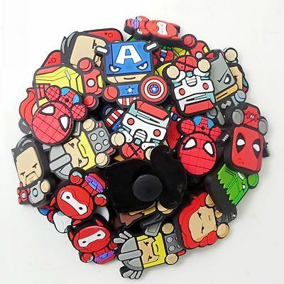 Child Gifts 50pcs Cartoon Super Heroes Shoe Charms For Croc Jibbitz Bracelet