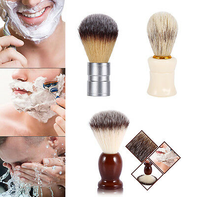 Fashion Men Synthetic Badger Hair Shaving Brush with Comfort Handle Barber Tools