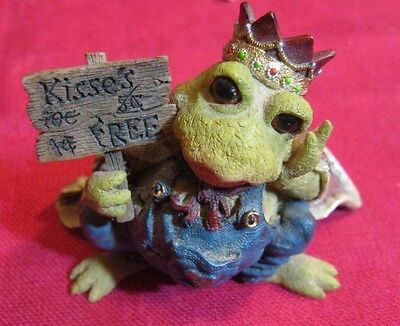 Vintage Adorable Frog Prince of Tales Kiss Me Quick Boyd's Bears & Friends Resin