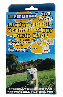 Handiscoop Eco Friendly Biodegradable Dog Poop Bags 100 Thick Dogs Waste Poo Bag