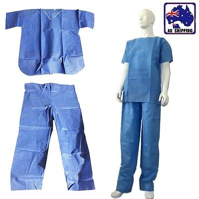 XL Unisex Disposable Uniform Clothes Scrubs Mens Ladies Nurse Hospital SGSU40806
