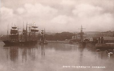 RP Postcard. Old Sailing Ships. TEIGNMOUTH.
