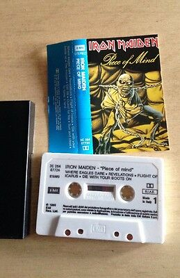 Iron Maiden - Piece Of Mind MC Cassette Tape Made In Italy 3c26407724