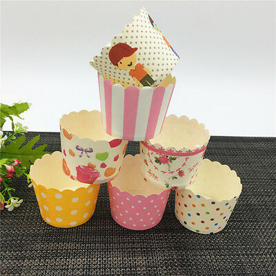 50PCS 6cm *5cm Baking Cake Cups Paper Candy  Liners Greaseproof Cupcake Cup Case