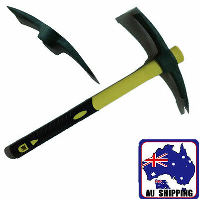 1pc 400g Metal Pickaxe Mattock Rubber Handle Digger Garden Tool OKNI47103