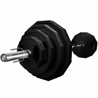 BodyRip Complete Polygonal Olympic 85Kg Weight Set With 7Ft Bar & Collars