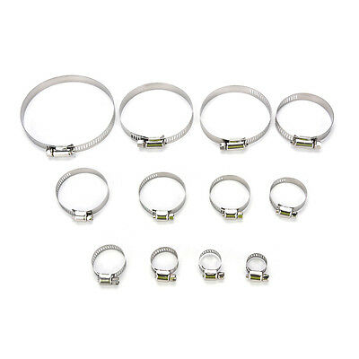 10 Stainless Steel Worm Drive Jubilee Fuel Hose Clamps Pipe Clips Air Water RX