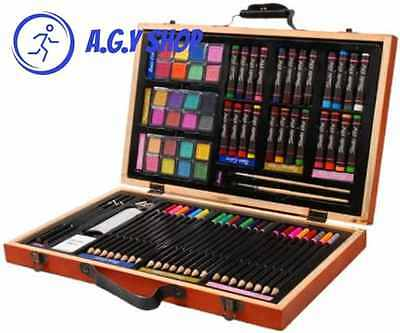 Darice 80 Piece Deluxe Art Set Painting Tool Compact Drawing Kit For kids Adults