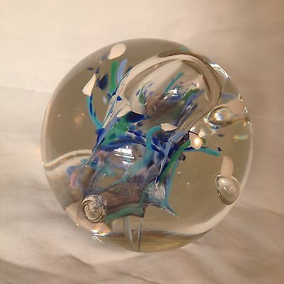 AUSTRALIAN Studio Art Glass MIKKI TRAIL Signed PAPERWEIGHT