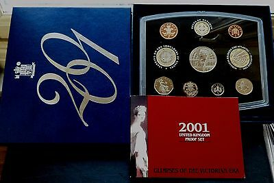 Royal Mint 10 Coin Proof Set Boxed 2001