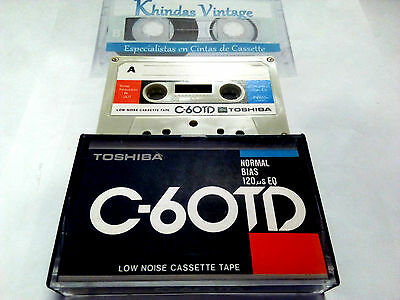 CASSETTE TAPE BLANK - 1x (one) TOSHIBA C-60 TD - Japan  RARE unused - Boombox