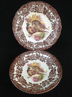 2pcs ROYAL WORCESTER Palissy GAME SERIES SAUCER & PLATE Excellent Condition