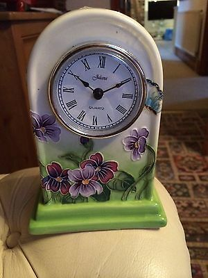 Old Tupton Ware Clock  Primrose And Butterfly  Bn In Box