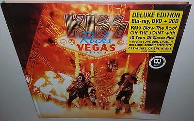 Kiss Kiss Rocks Vegas (Deluxe Edition) (2016) Brand New Sealed Bluray Dvd 2Cd