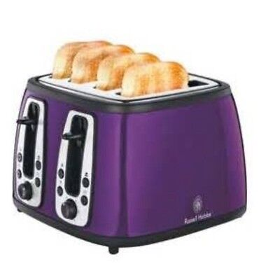 Official Russell Hobbs Heritage Royal Purple 4 Slice Toaster