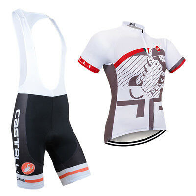 2017 Men New Cycling Jersey Bib Shorts Kits Bike Shirt Pants Outfits Sets White