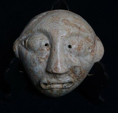 Chinese QiJia Culture Style Sacrificial Ceremony Big Jade Covering Mask-JR12688