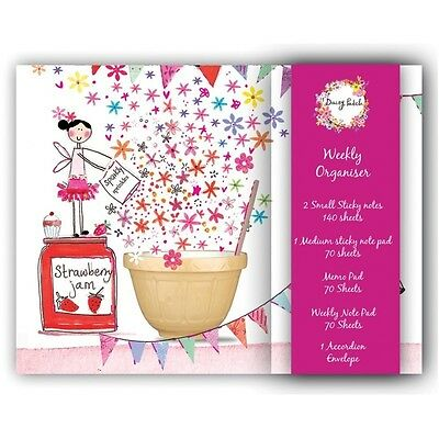 Daisy Patch Fairy Weekly Organiser Notepad Set