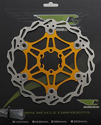 MTB Bicycle Stainless Steel 6 Bolt Floating Disc Brake Rotor 160mm - 3 Colours!