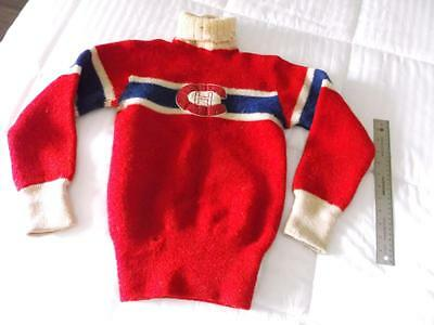 RARE VINTAGE 1940's MONTREAL CANADIENS HAND MADE WOOL KIDS SHIRT