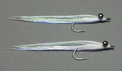 Pearl Shimmer Flash Clouser Minnow Baitfish - Size 2 - Saltwater Fly Fishing