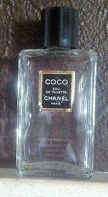 "Vtg Factice Dummy Displey COCO CHANEL  Bottle EDT empty 4.5""Tall 75ml."