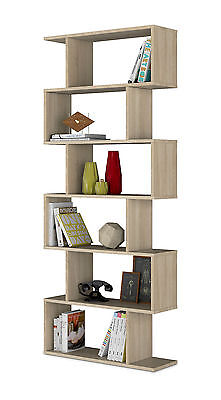 Ziggy Oak Effect Bookcase Storage Bookshelf Home & Office Furniture shelves 2605