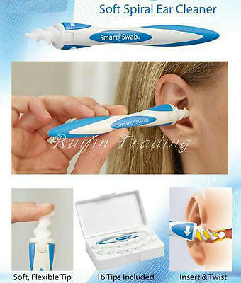 Smart Swab Soft Removal As Seen On TV Spiral Cleaner Earwax Ear Easy Safe Tools*