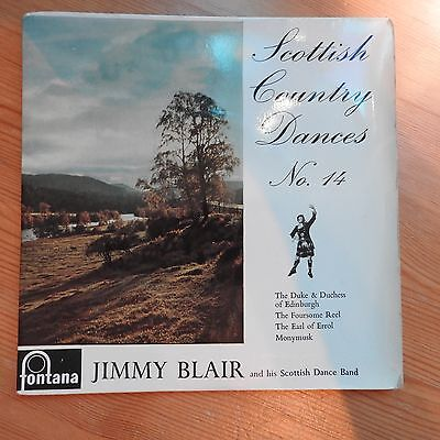 """Scottish Country Dances No 14 - Jimmy Blair and his Band 7"""" EP vinyl  Ex/Ex"""